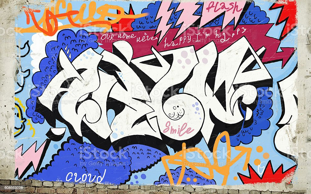 Graffiti stock photo