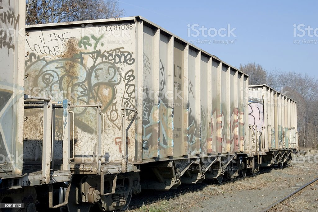 graffiti rail car stock photo