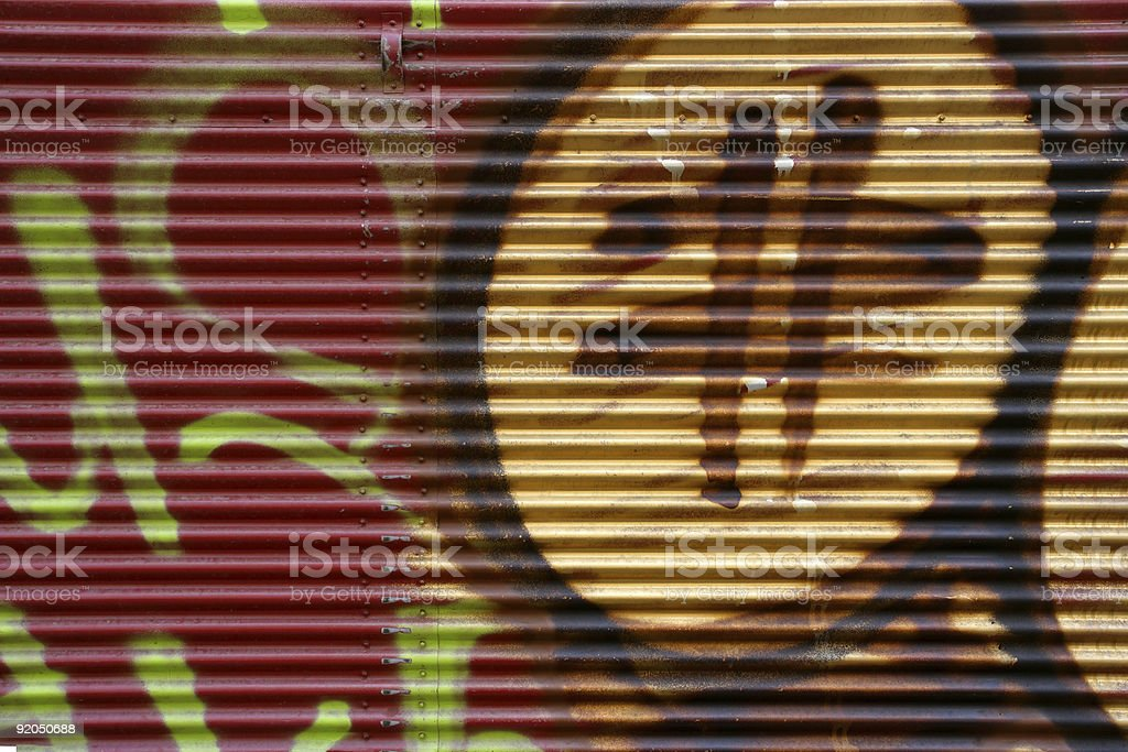 Graffiti security door stock photo
