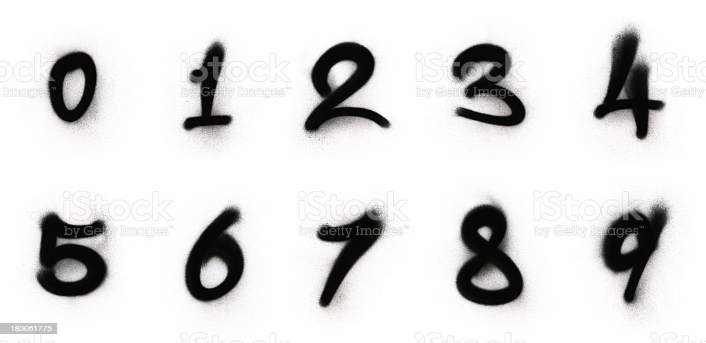 граффити цифры картинки