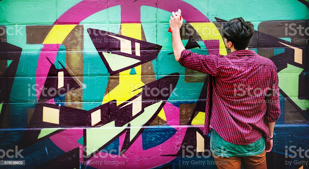 Graffiti Street Art Culture Spray Abstract Concept stock photo