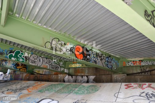 A local hangout for vandals, artists, and sometimes the homeless