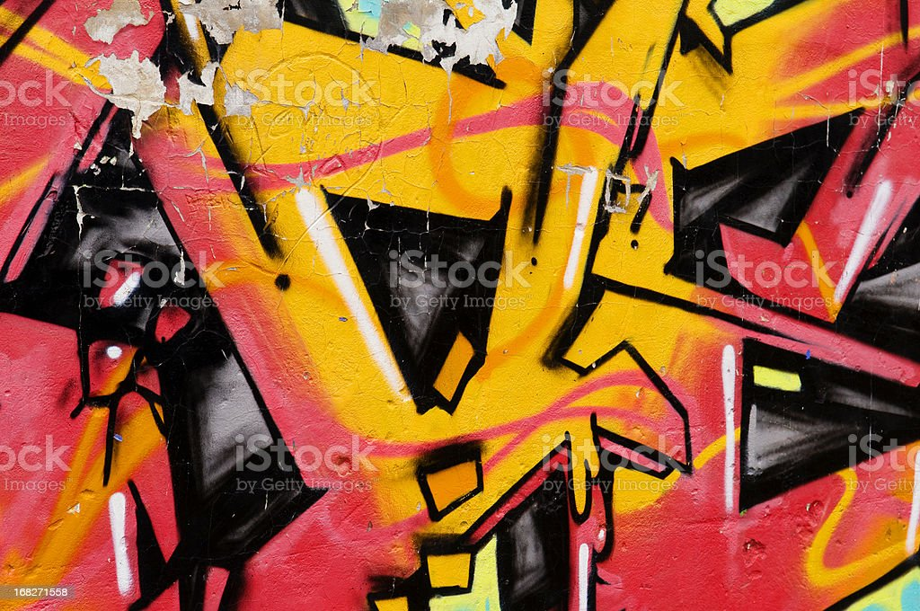 Graffiti wall background stock photo