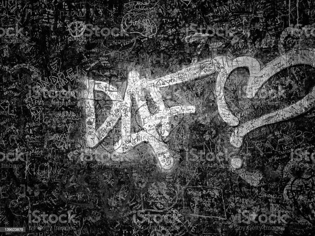 Graffiti wall - Grainy royalty-free stock photo