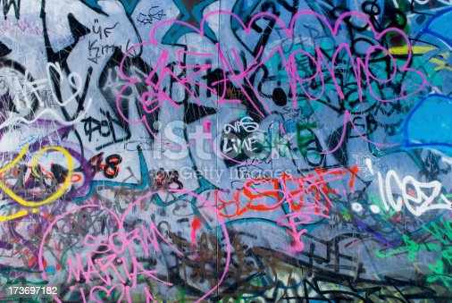 istock Graffiti wall 173697182