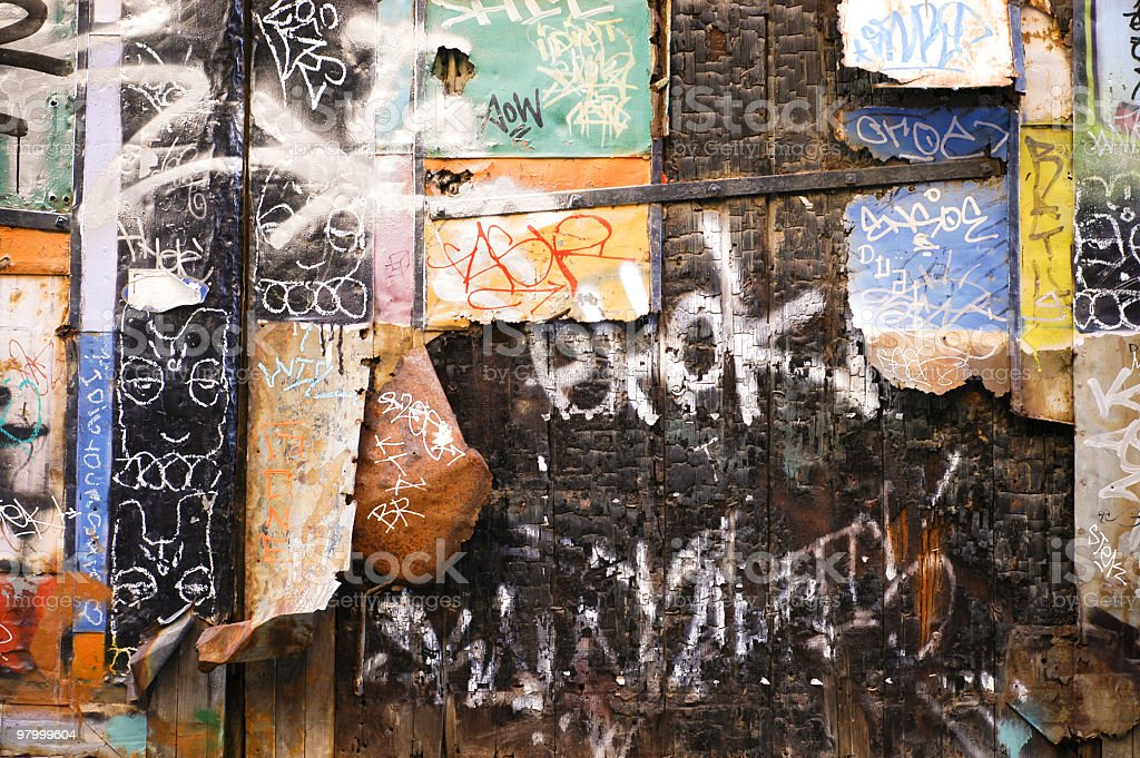 Graffiti wall royalty-free stock photo