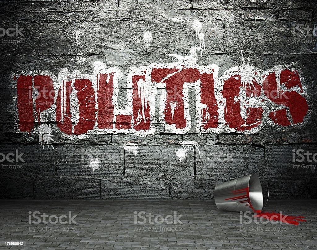 Graffiti wall with politics, street background royalty-free stock photo
