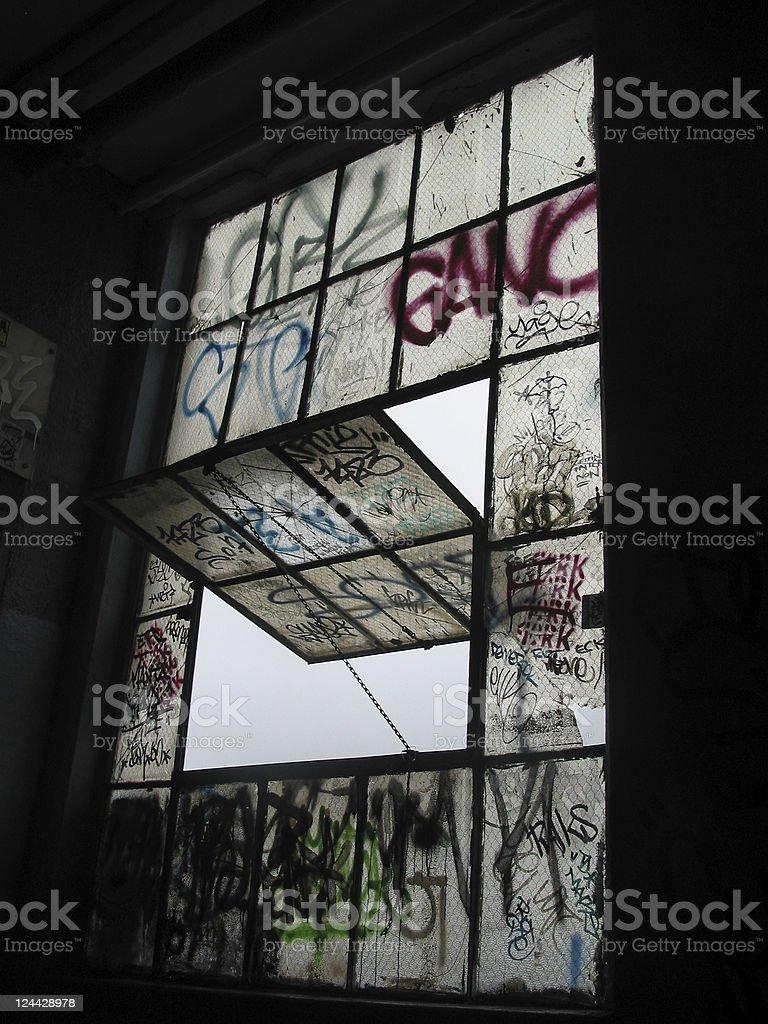 graffiti window royalty-free stock photo