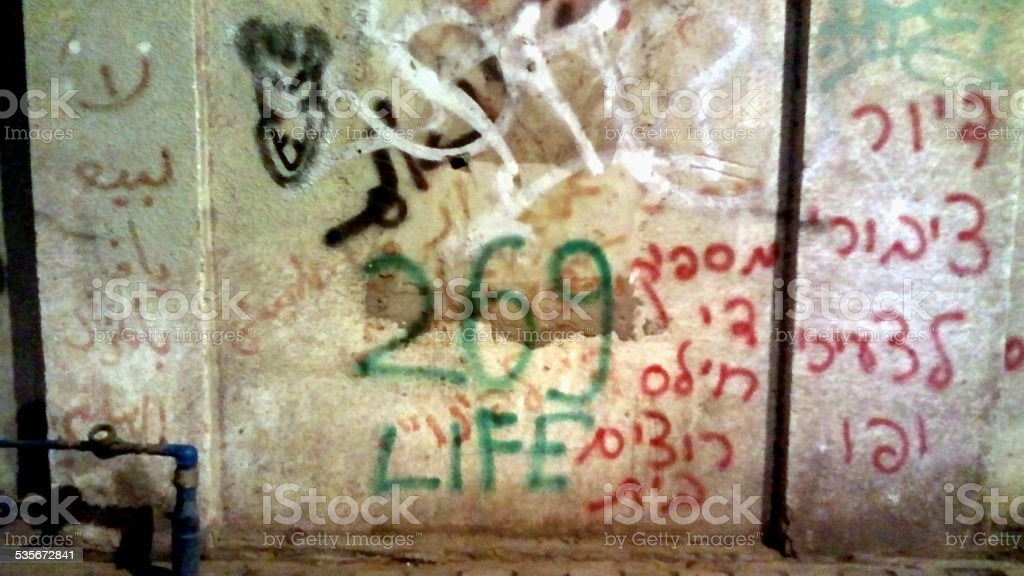 Graffiti With Different Languages stock photo
