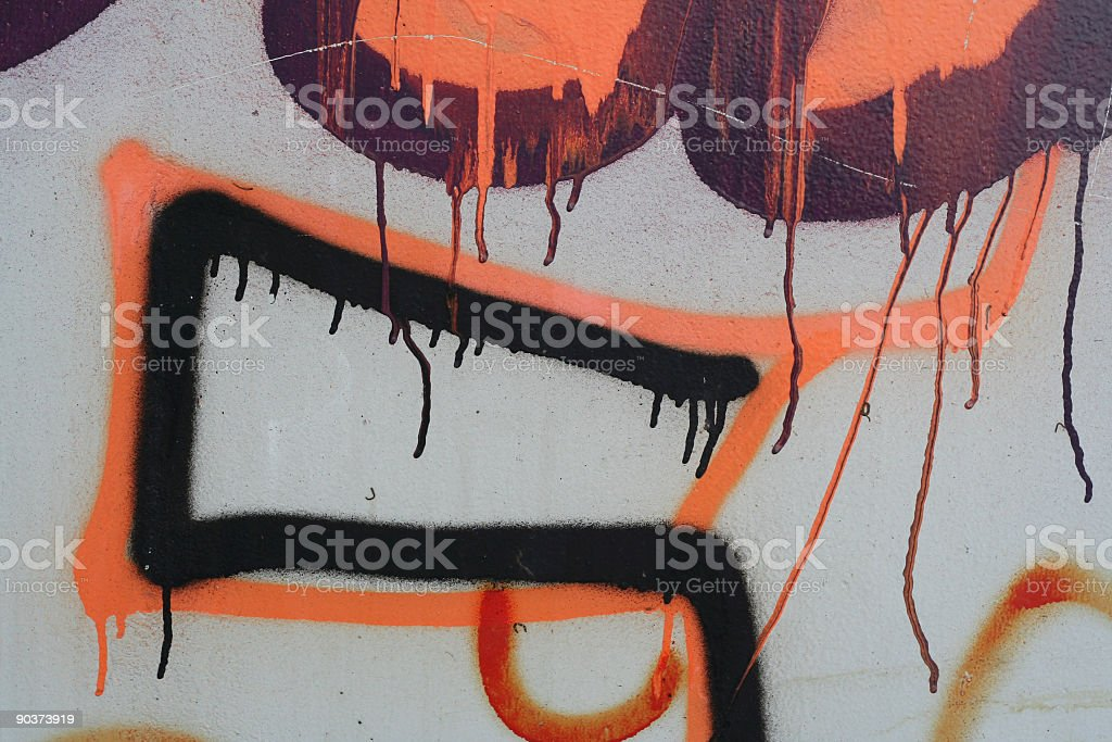 Graffiti with paint tears royalty-free stock photo