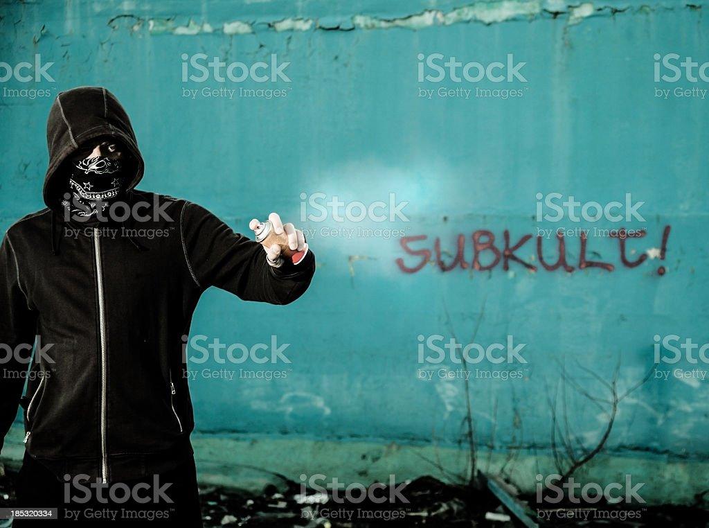 Graffitti artist royalty-free stock photo