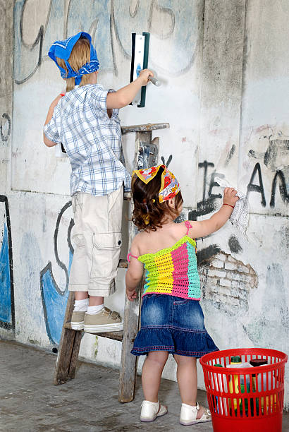 Grafiti Removers stock photo