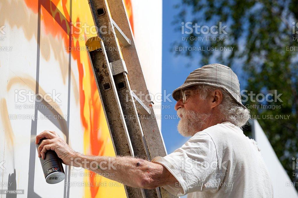 Grafitti artist John Howard stock photo