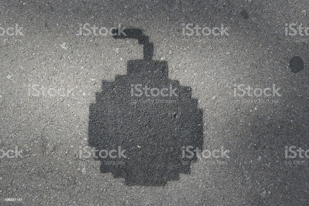 Grafitti Bombe royalty-free stock photo