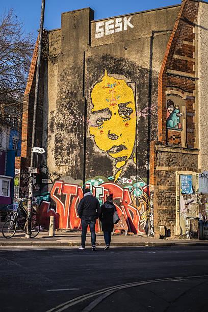 Grafitti in Stokes Croft, Bristol stock photo