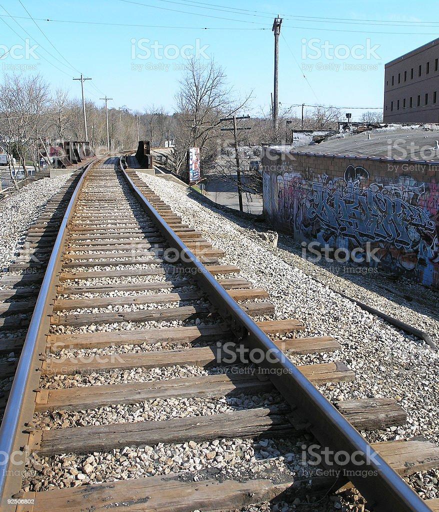 Grafitti Railway royalty-free stock photo