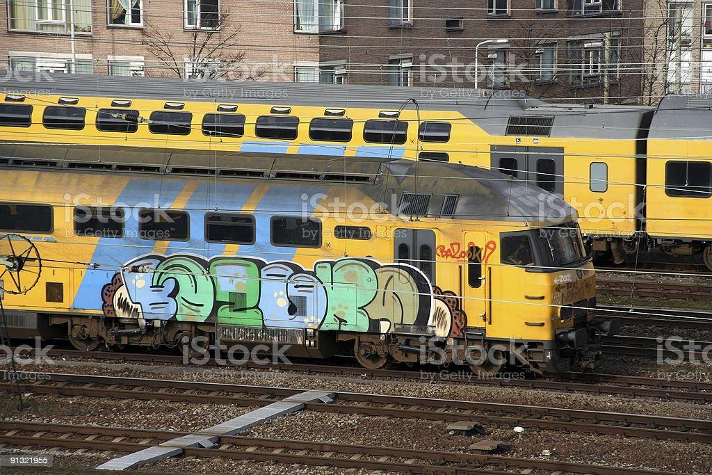 Grafitti Train stock photo