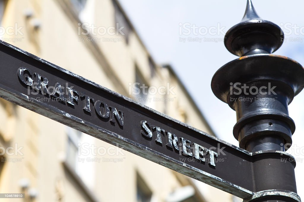 Grafton Street Dublin, Ireland royalty-free stock photo
