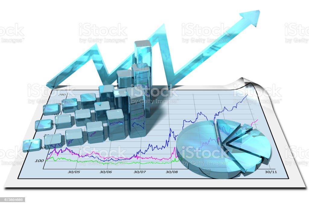 Gragico crescita finanziaria. royalty-free stock photo