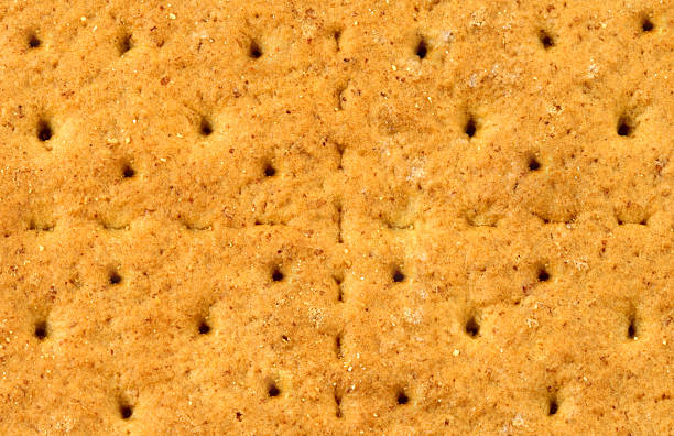 Graham cracker background or texture stock photo
