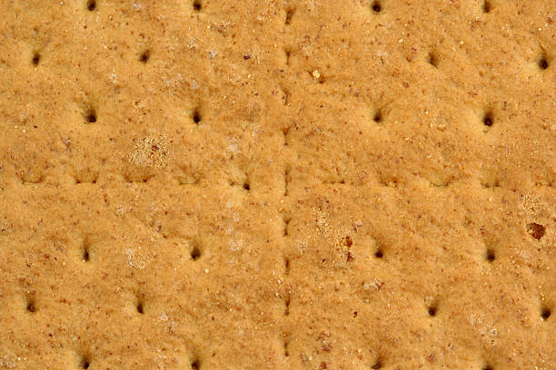 Graham cracker background stock photo