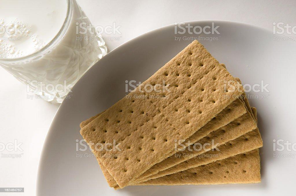 Graham Crackers with Milk royalty-free stock photo