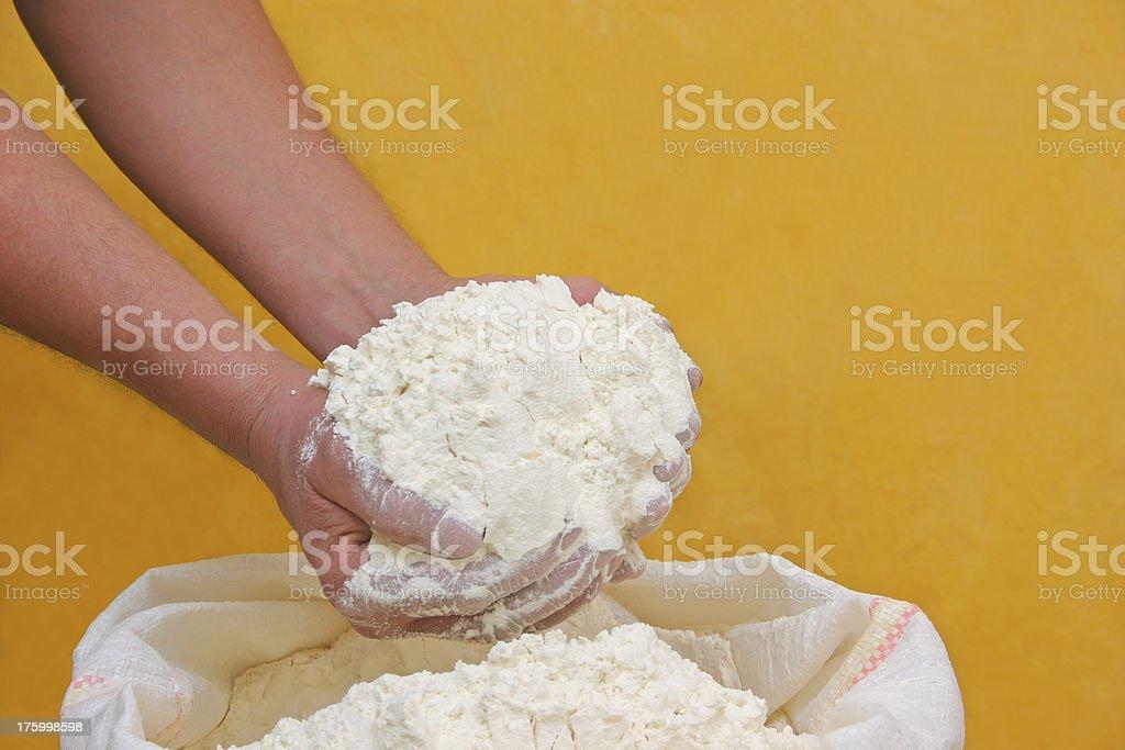 Graham flour stock photo