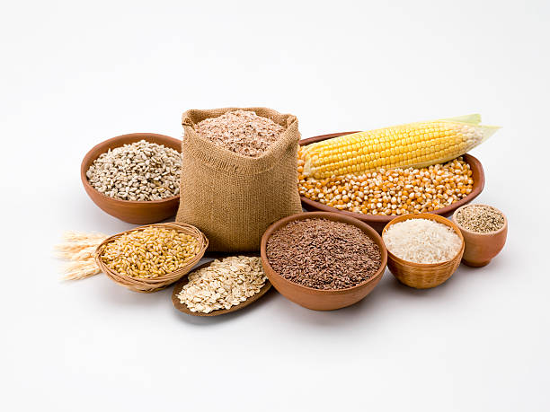Grain and cereal composition  rice cereal plant stock pictures, royalty-free photos & images
