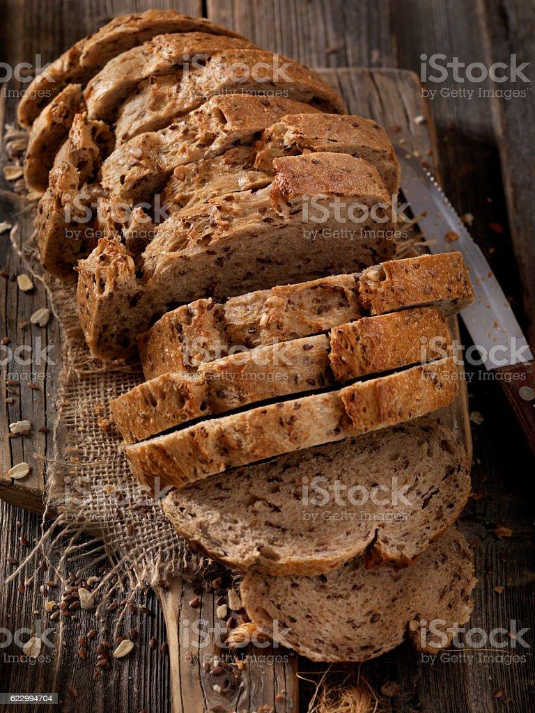 9 Grain Artisan Bread Loaf stock photo