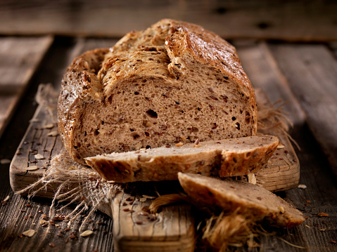 9 Grain Artisan Bread Loaf - Photographed on a Hasselblad H3D11-39 megapixel Camera System
