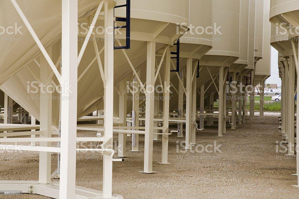 Grain Bin Perspective royalty-free stock photo