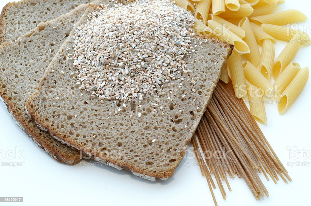 Grain Bread Pasta stock photo