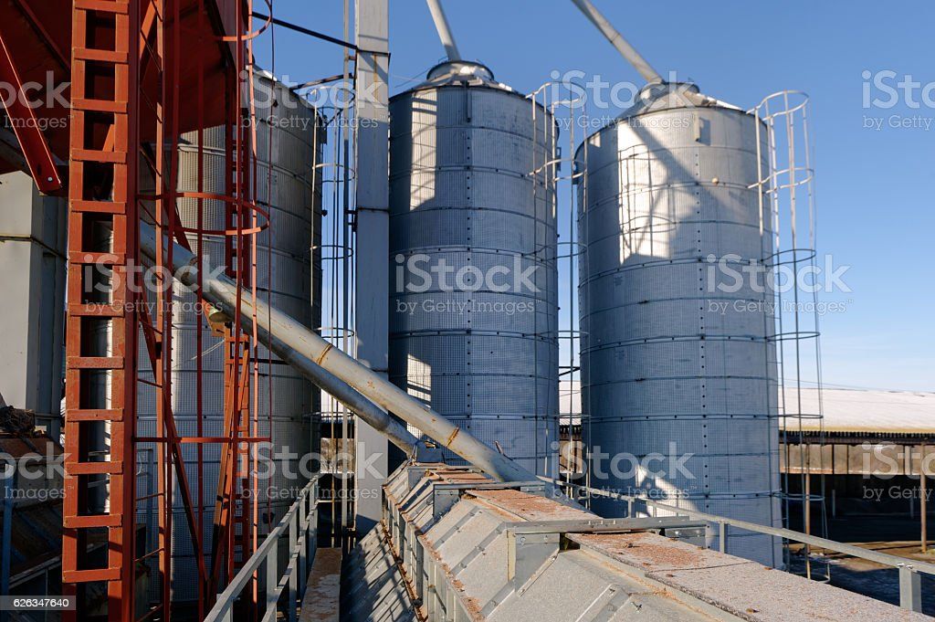 Grain drying system stock photo