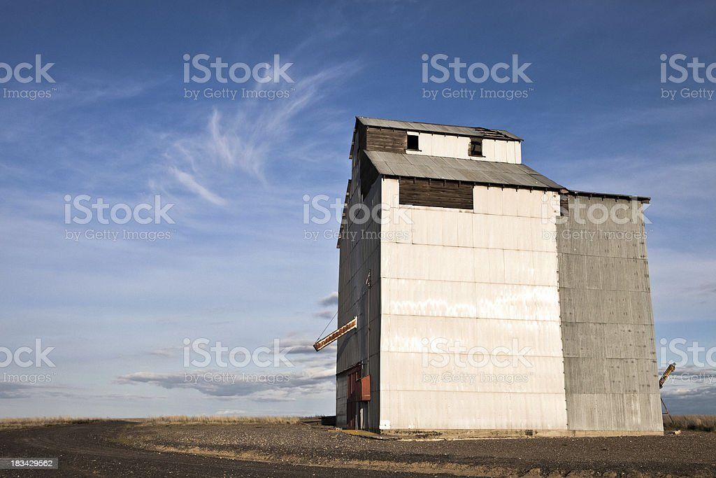 Grain Elevator & Blue Sky royalty-free stock photo
