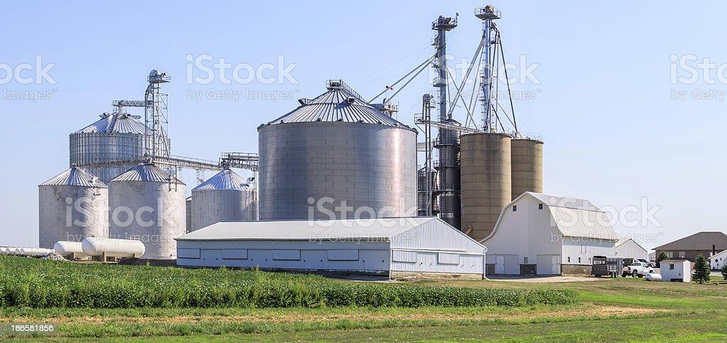 Grain Elevator Facility stock photo