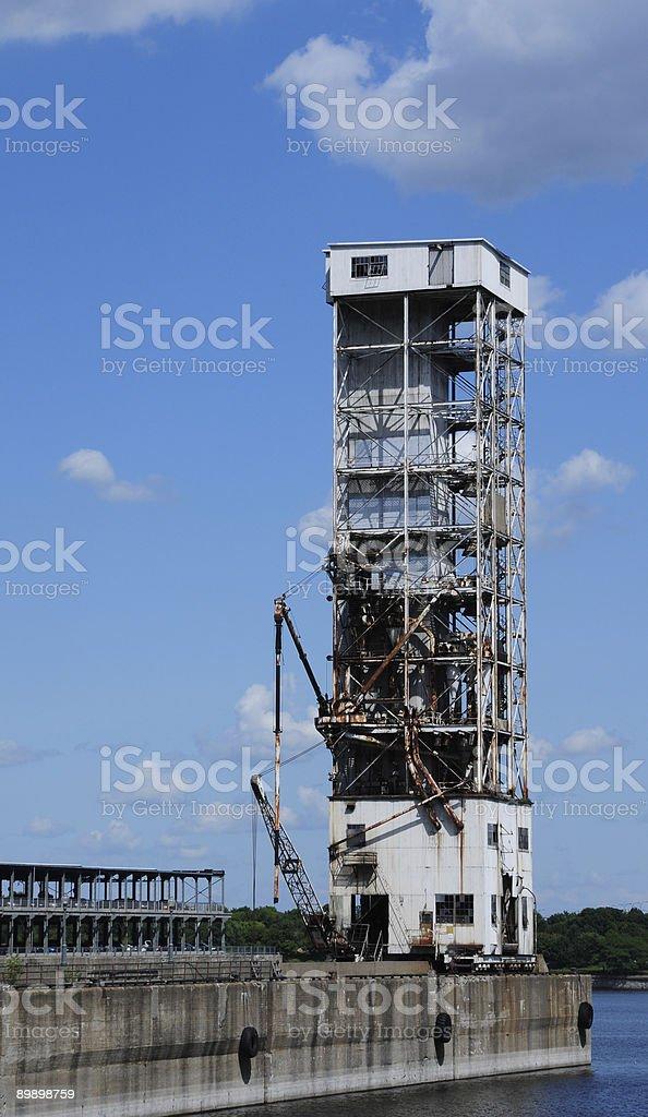 Grain elevator royalty-free stock photo