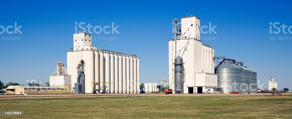 Grain Elevators, Kansas royalty-free stock photo