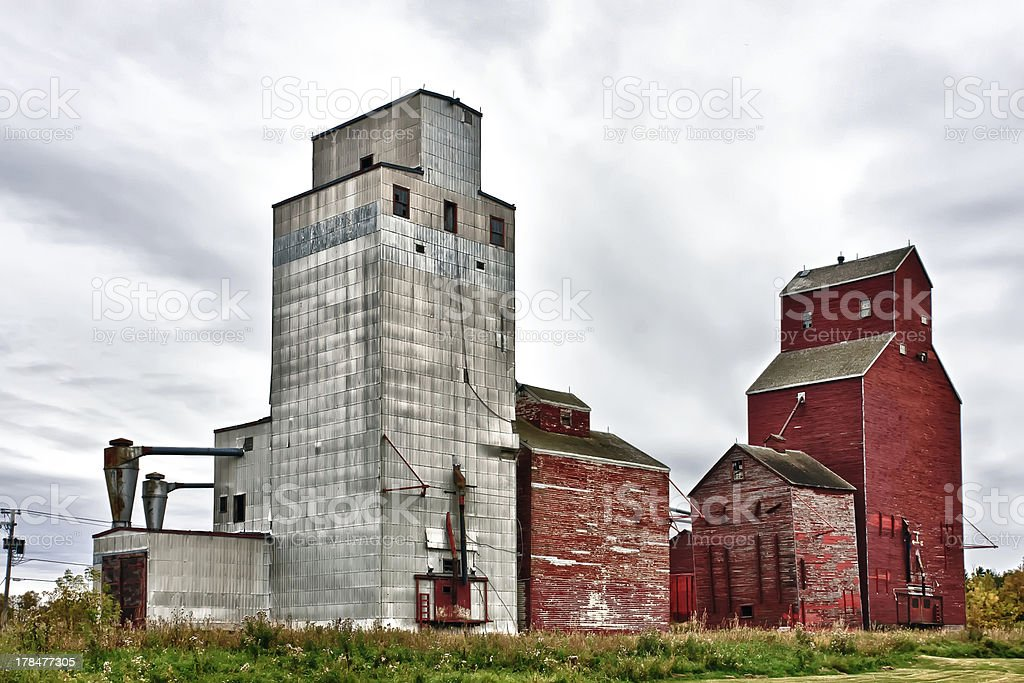 Grain Elevators royalty-free stock photo