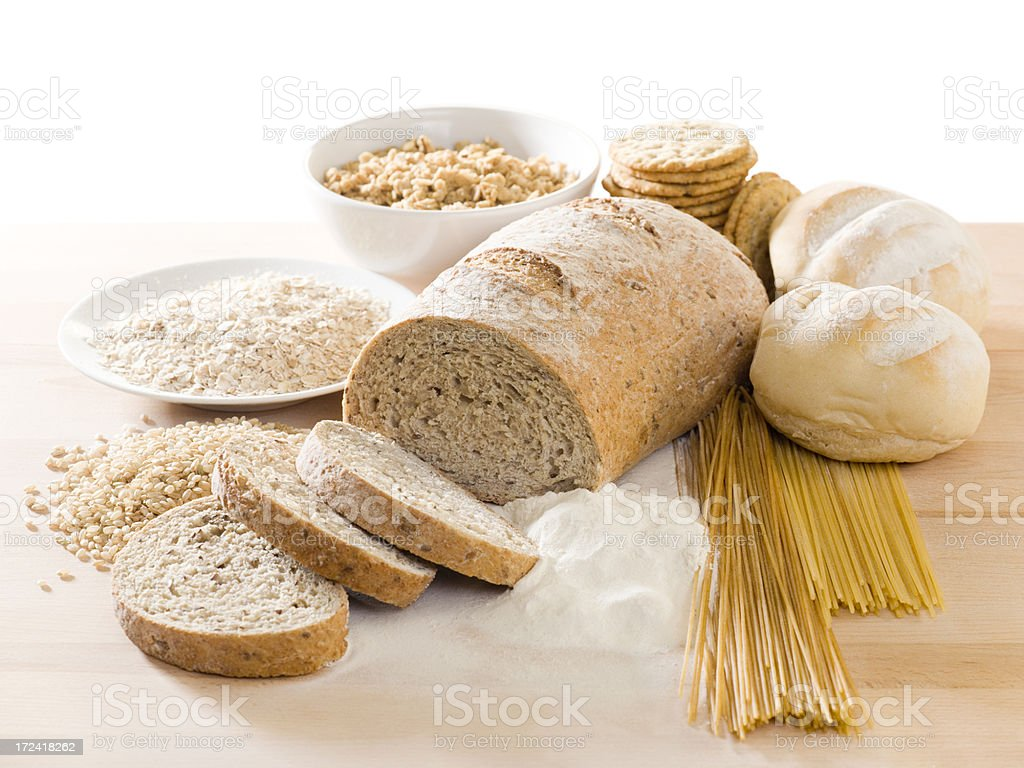 Grain Food Group (Clipping Path) royalty-free stock photo