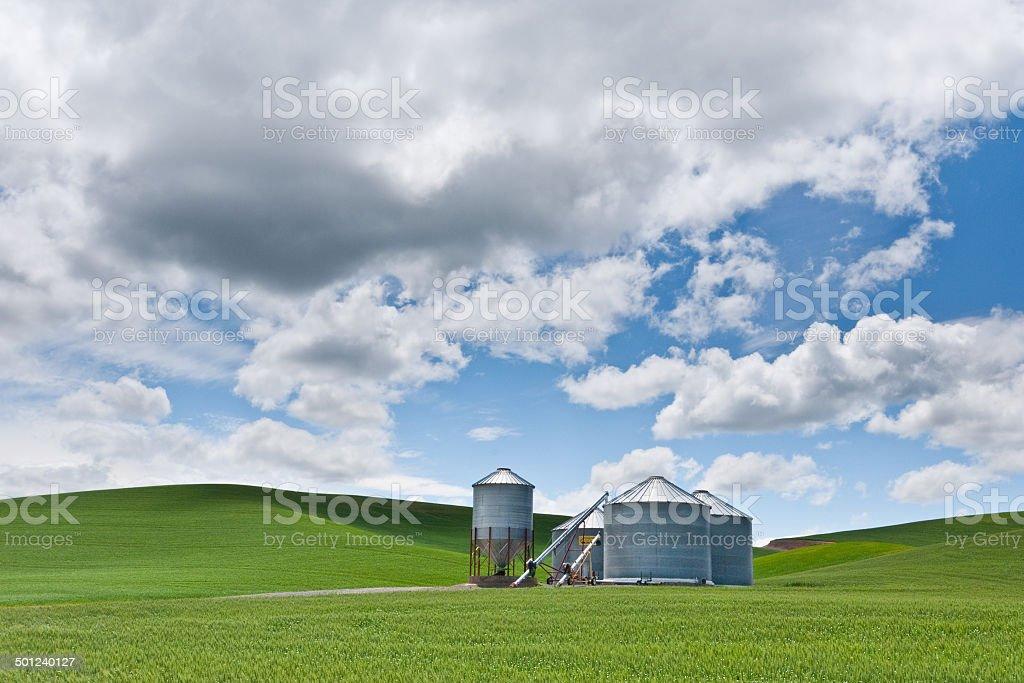 Grain Silo royalty-free stock photo