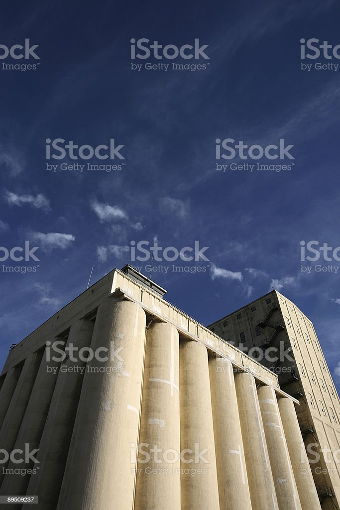 grain silo royalty-free stock photo