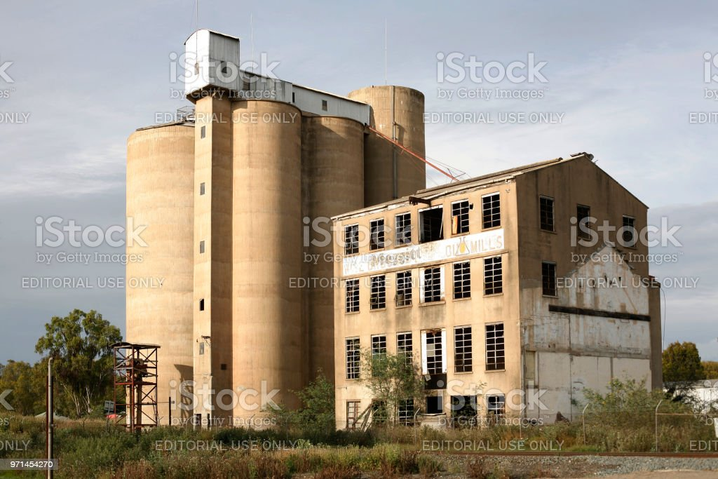 Grain Silos And Flour Mill Stock Photo & More Pictures of