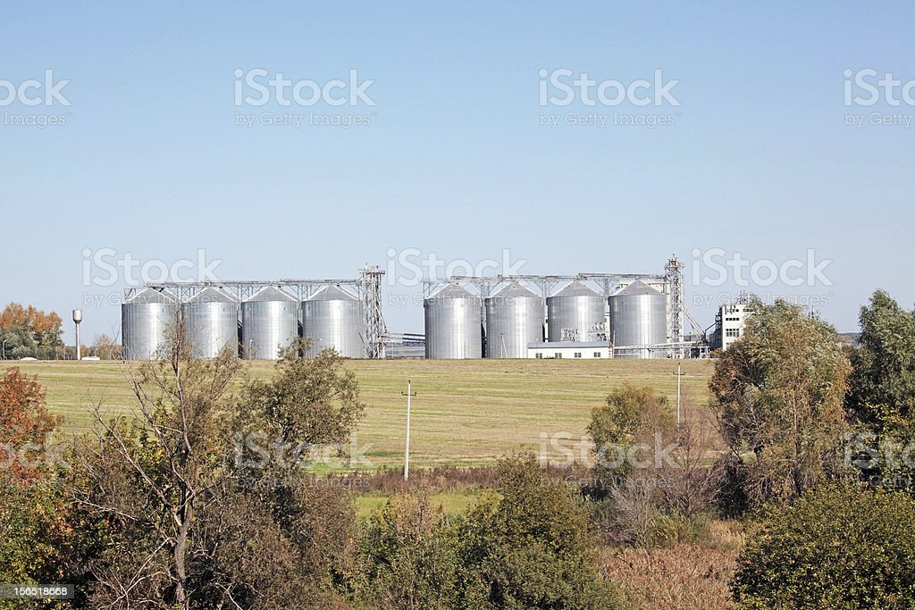 grain silos royalty-free stock photo
