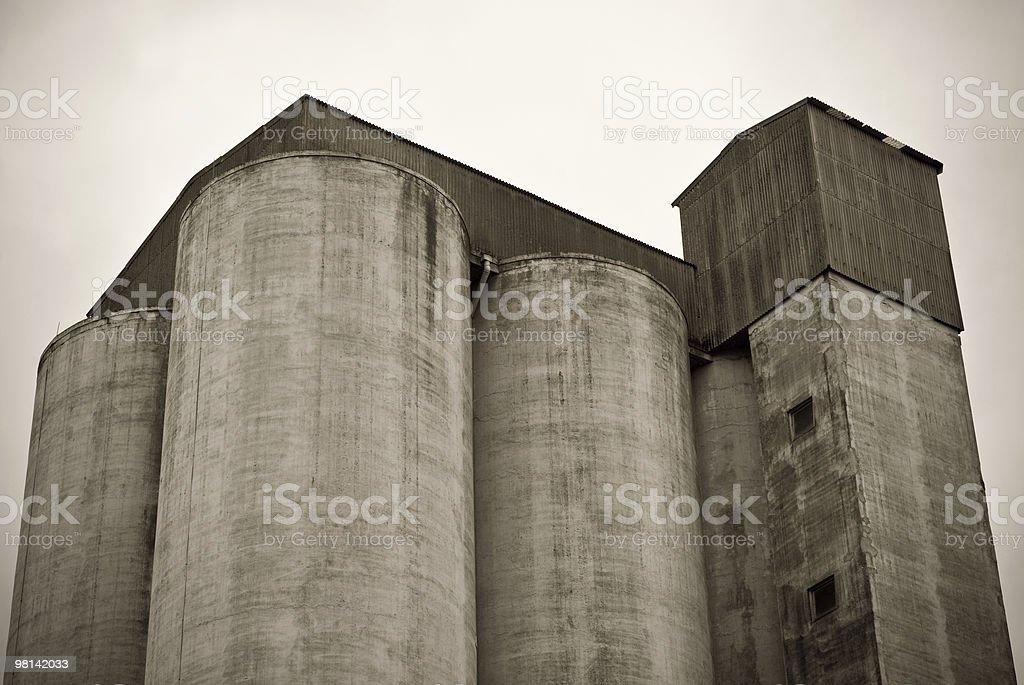 Silos per cereali foto stock royalty-free