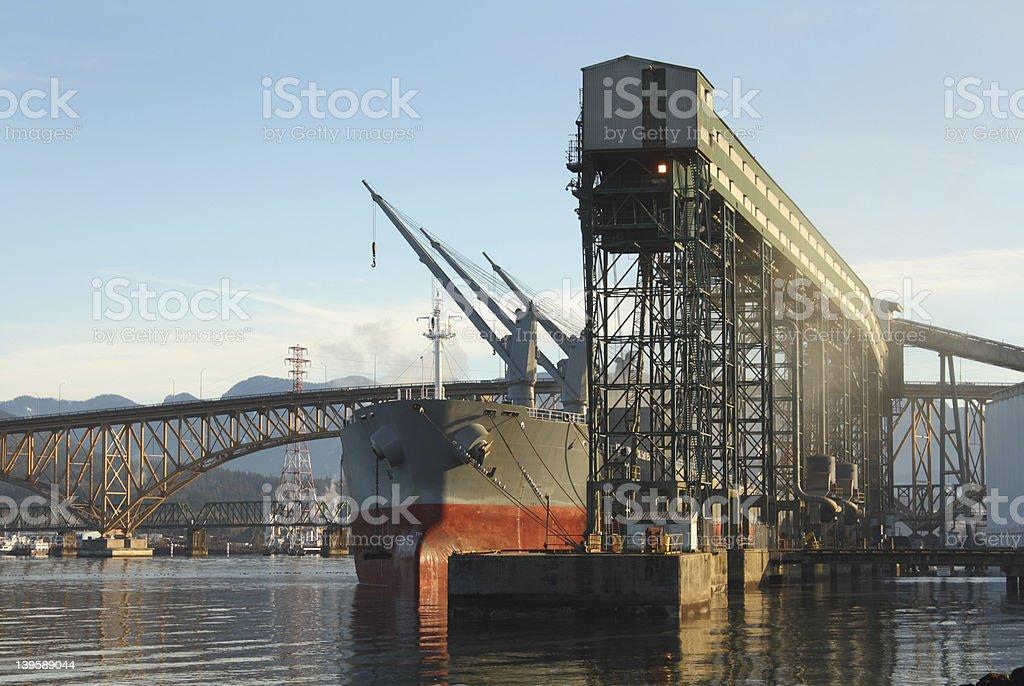 Grain Terminal, Burrard Inlet, Vancouver stock photo