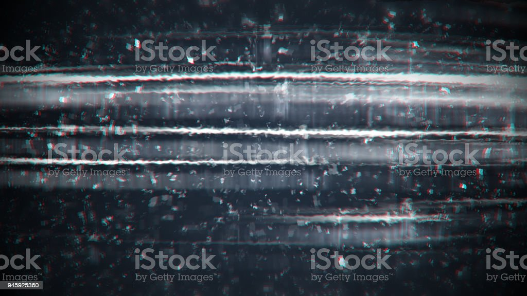Grained and distorsed TV noise stock photo