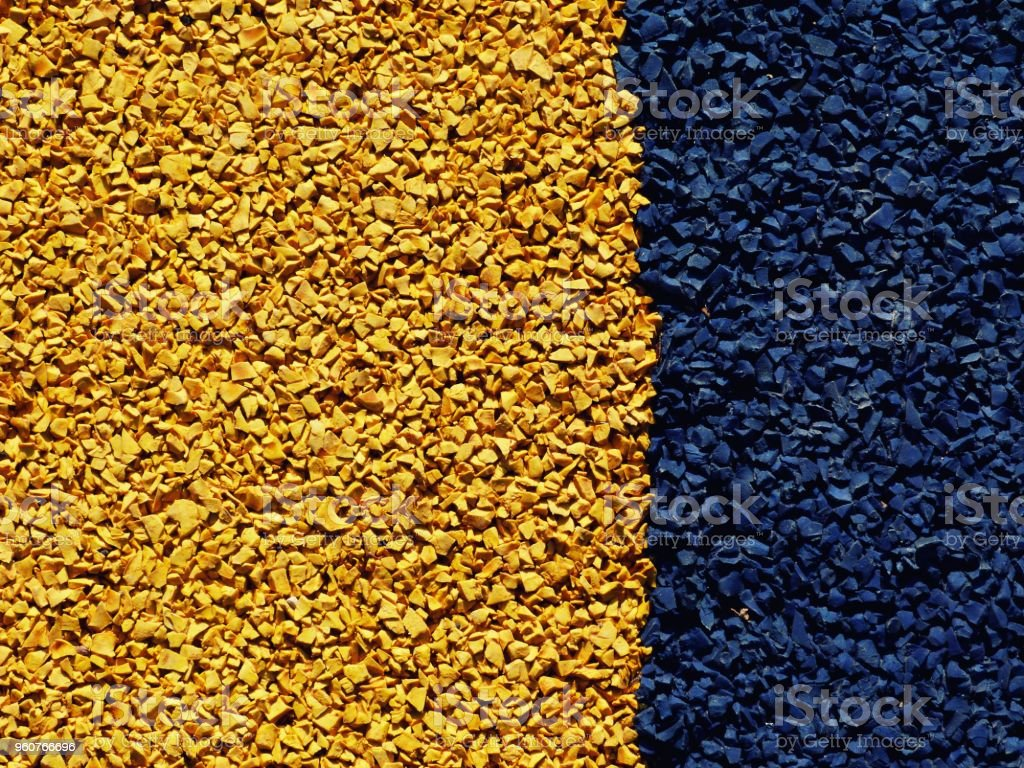 grained rubber mat floor surface stock photo