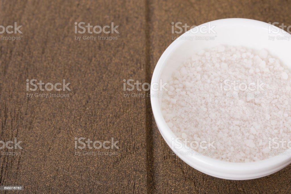 Grained salt stock photo