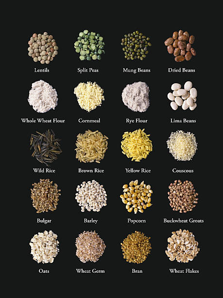 Grains and Beans stock photo