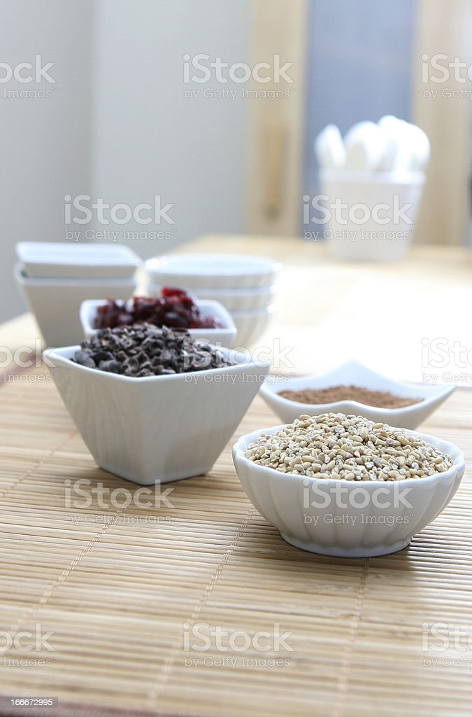 Grains and Fruit royalty-free stock photo